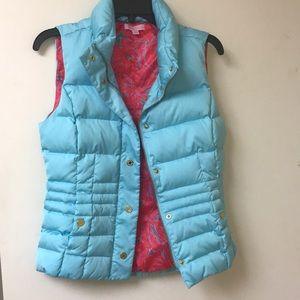 Lilly Pulitzer puffer vest light blue
